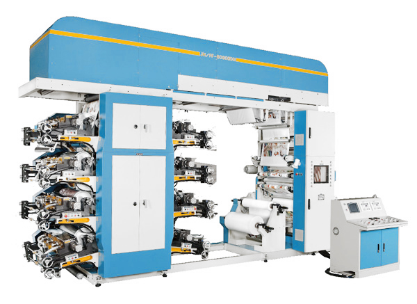 BDN Series – Doctor Blade type 8 COLORS FLEXOGRAPHIC PRINTING MACHINE (OFF-LINE)