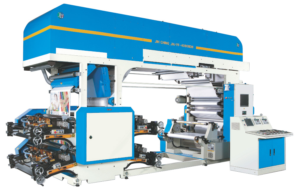 BDN Series – Doctor Blade type 4 COLORS FLEXOGRAPHIC PRINTING MACHINE (OFF-LINE)